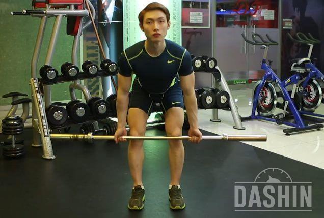 나홀로 Fitness [바벨 로우 언더그립]