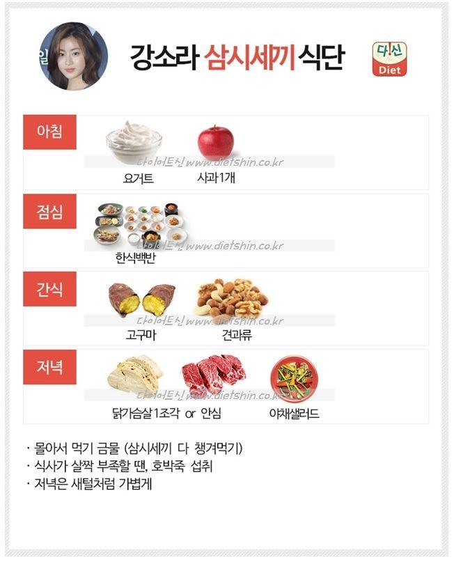 강소라 식단표 (삼시세끼 식단)