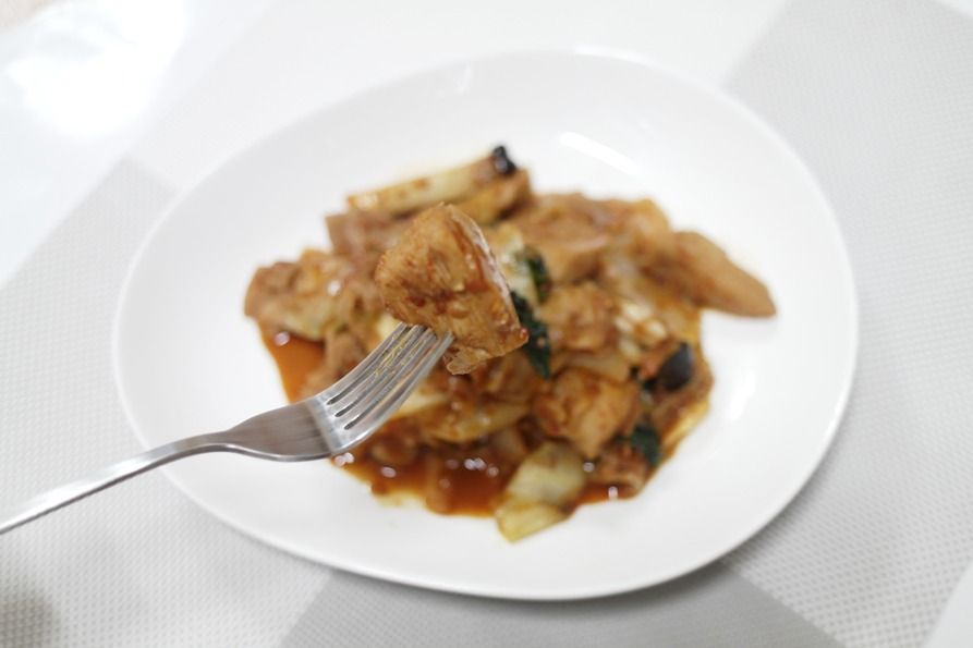 매콤하게 맛있는 닭가슴살 닭갈비